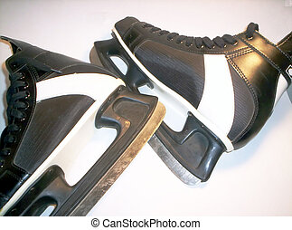Ice Skates - Black and white hockey skates