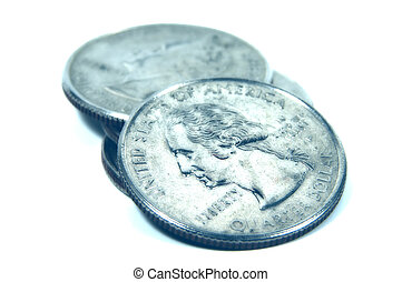 Quarters - Photo of Quarters in Cyan And Blur Effect