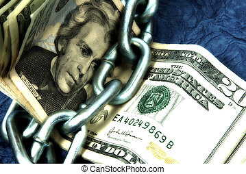 Frugal - Photo of Cash and a Chain With Color and Blur...