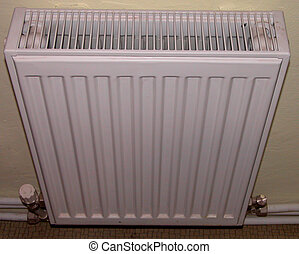 Radiator - A radiator on a hall in a house.