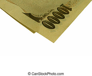 Money suggestion - Partial 10000 yen bill-isolation