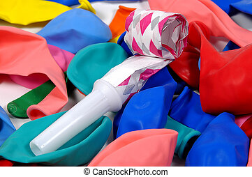 Party 2 - Photo of Balloons and a Noisemaker