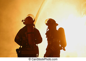 firefighters - two firefighters