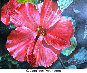 Hibiscus - This is a picture of an original painting by...