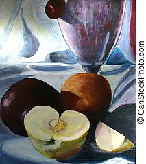 Still Life w/ Fruits - This is a picture of an original...