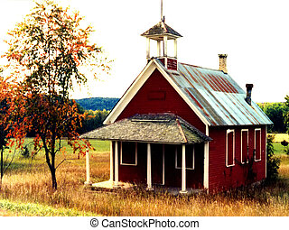 Old Schoolhouse - Old Michigan Schoolhouse