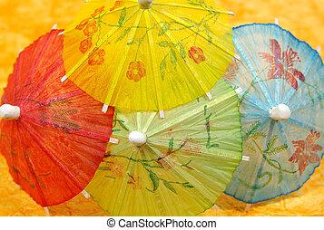 cóctel, paraguas