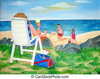 Family Day Out - Family day at the beach This is a...