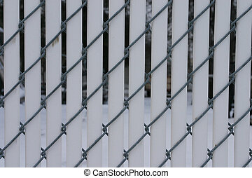 Fence Inserts - Texture image of a chain link fence with...