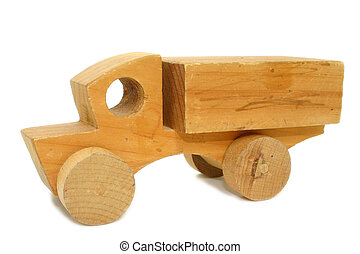 Antique Wooden Toy Car - Small antique wooden toy car.