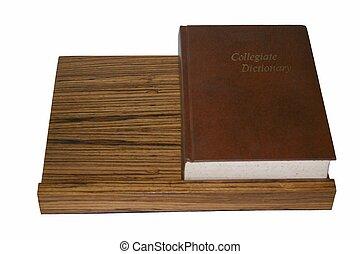 escritorio, libro, 2