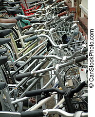 Bicycle Parking - Bicycles crowded into a Japanese bicycle...