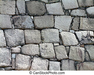 Castle Wall - Large blocks of a Japanese castle wall
