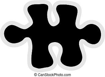 Jigsaw Icon - Jigsaw piece icon graphic.