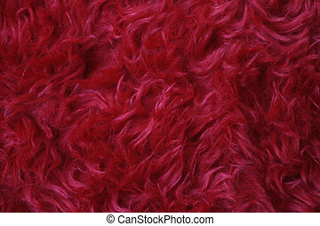 Backgrounds - Faux fur - RED. Shallow DOF.