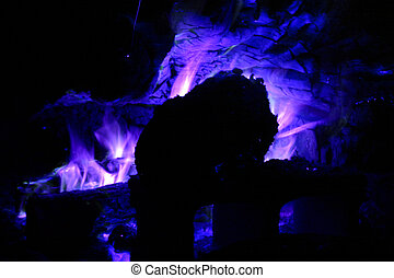 Blue Fire - Hues of this campfire have been shifted to match...
