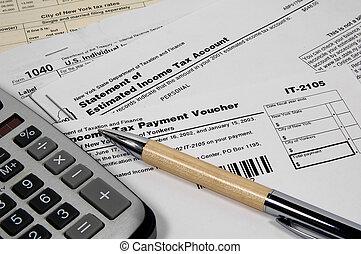 imposto, formulários