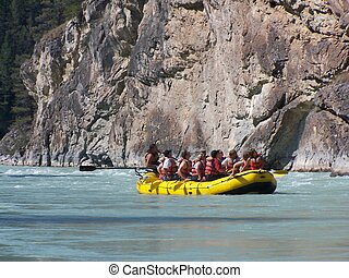 River Raft - Chilcotin River British Columbia Canada