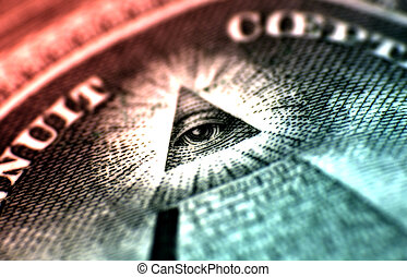 The Great Neal - Macro Photo of the Eye and Pyramid on...