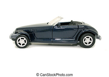 Toy Blue Car 82mp Image - b82mp Imageb Side view of a toy...