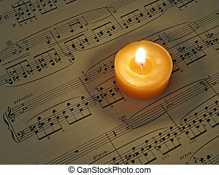 Music By Candle - Sheet Music By Candlelight