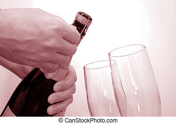 Champagne Celebration 82mp Image - b82mp Imageb Mans hand...