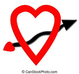 Heart and Arrow - Heart and arrow graphic