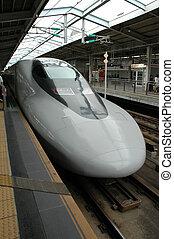 Shinkansen train 2 - Bullet train in Tokyo