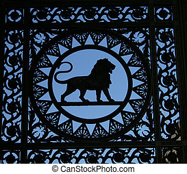 Lion detail in the gate in Londons Marble Arch