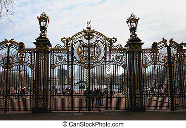 Ornate Park Gates
