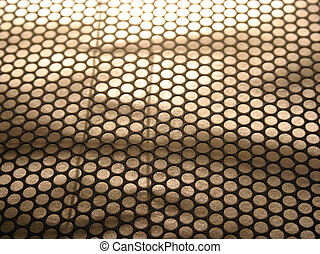 Perforation texture1 - Close up on perfored steel.