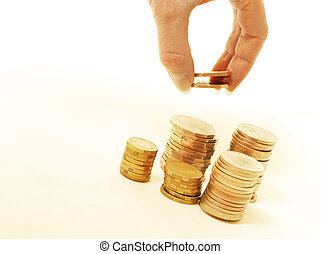 Daily interest - Stacking coins, daily interest, profits,...
