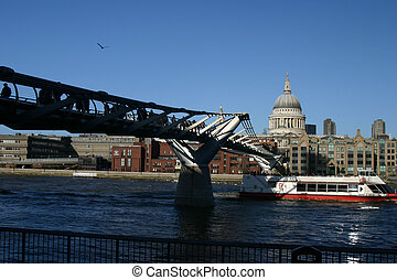 Millennium Bridge - Londons newest bridge, the millennium...