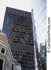 City reflections - London city architecture the Gerkin...