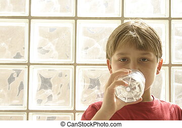 Water of life - Boy drinking bottled water