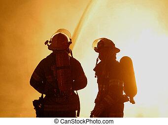 dos, bomberos