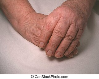 Working Hands - Hands of an older lady.