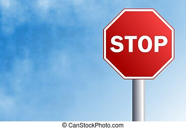 Stop Sign - Stop sign illustration with space for text