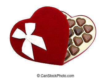 Heart Shaped Chocolates - [b]8.2mp Image[/b] Deep red velvet...