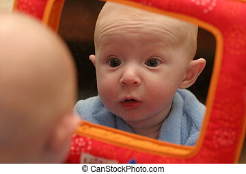 Worried Reflection - Worried baby in reflection