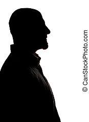 profile1 - man shadow profile