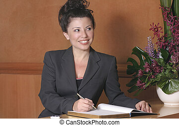Hotel Reception - Hotel reception, front desk, customer...