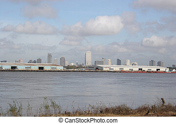 New Orleans Skyline - A view of the new orleans skyline on...