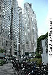 Skyscraper 2 - Office buildings in Tokyo Japan