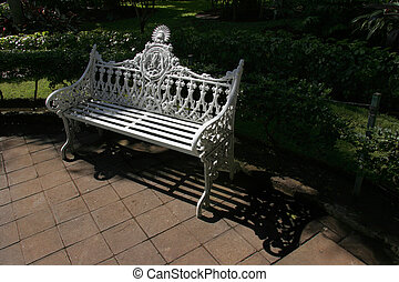 Ornate Park Bench - An old, ornate, cast-iron park bench...