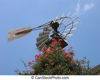 Windmill Cyprus - A windmill in the centre of the city of...