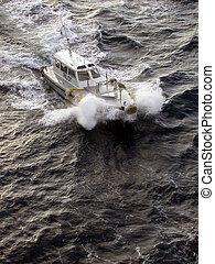 Pilot Boat - Pilot boat approaching a Ship