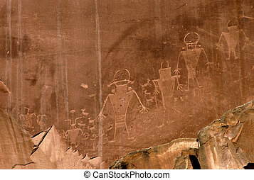 Petroglyphs - petroglyphs in Capitol Reef National Park,...