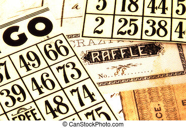 Bingo and Raffle - Photo of Bingo Cards and a Raffle With...