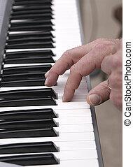 Keys - hands on piano keys